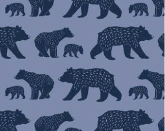 Bear Crib Bedding, Bear Crib Sheet, Changing Pad Cover, or Blanket, Bear Crib Sheet, Blue Nursery, Simple Life Fabric