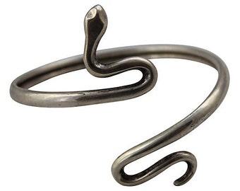 Stamped Silver Wrap Bracelet