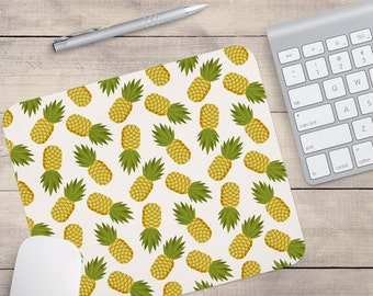 Pineapple Mouse Pad, Tropical Mouse Pad, Pattern Mouse Pad (0036)