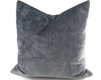 Gray Chenille Throw Pillow Cover, 20x20