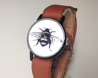 "Mens watch, Soviet watch, Russian watch ,minimalist watch, watch men ,minimal watch, Mechanical watch ,classic watch ,Bee watch ""Victory"""