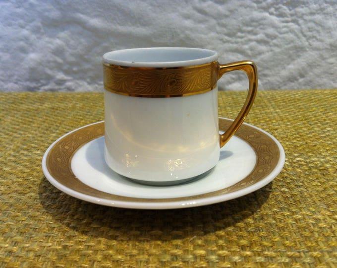 Vintage espresso Mocha coffee coffee cup cup Fraureuth porcelain porcelain ceramic builds
