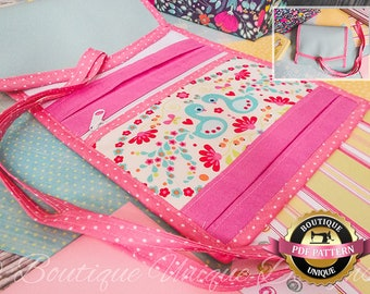 Ready Roll - Roll Up Organiser with Zipped Compartments  & Optional Wipes Pocket PDF DIGITAL PATTERN