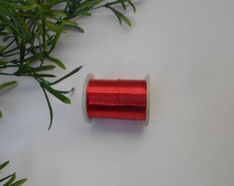 roll of 0.30 mm - 10 meters red copper wire