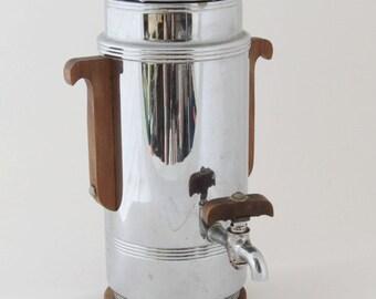 Mid Century Chrome Coffee Perculator