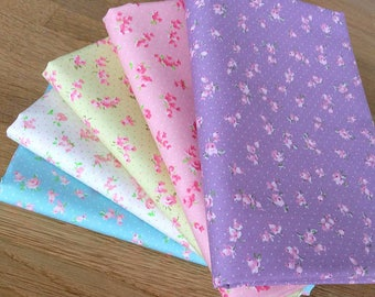 SWEET ROSES Fat Quarter Bundle by Fabric Freedom 100% Cotton Floral Flowers
