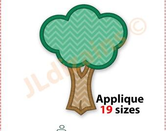 Baum Applikation Design. Maschinenstickerei-Design. 19 Größen enthalten. Baumstickerei-Design. Baumapplikation Baumstickerei Waldapplikation