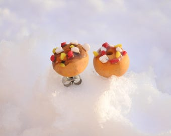 Donut Earrings made of Fimo
