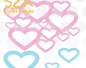 Heart Lace Heart Valentines Day SVG, DXF and EPS digital file