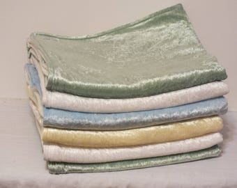 Fleece & Crushed Panne Velvet Baby Blankets - Variety of Colors Available