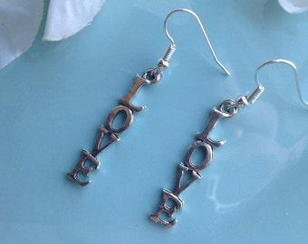 Monogrammed earrings, friendship earrings, statement earrings, dangle earrings, monogrammed jewelry, bridal earrings, gift ideas, handmade