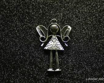 Large pendant charm in silver pattern Angel 56mmx37mm