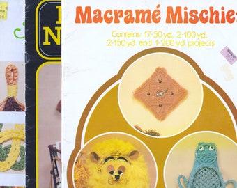 Vintage Macrame Craft Books - 3 Books