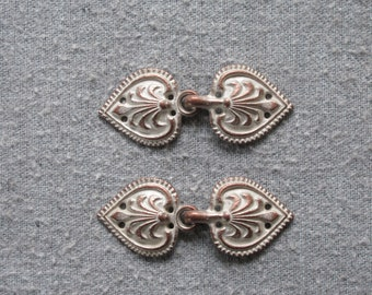 Antique Copper Romance Clasps JH-8539-Cu