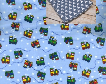 Flannel Trains Contoured Changing Pad Cover 100% Cotton Flannel Nursery Baby Changing Pad Covering