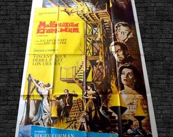 vtg cinema poster ROGER CORMAN la malediction d'Arkham