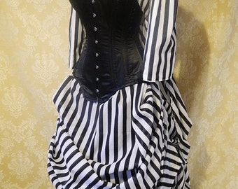 Sleepy Hollow Full Outfit-Bustle Jacket, Bustle Trained Skirt and Steel Boned Belladonna Corset