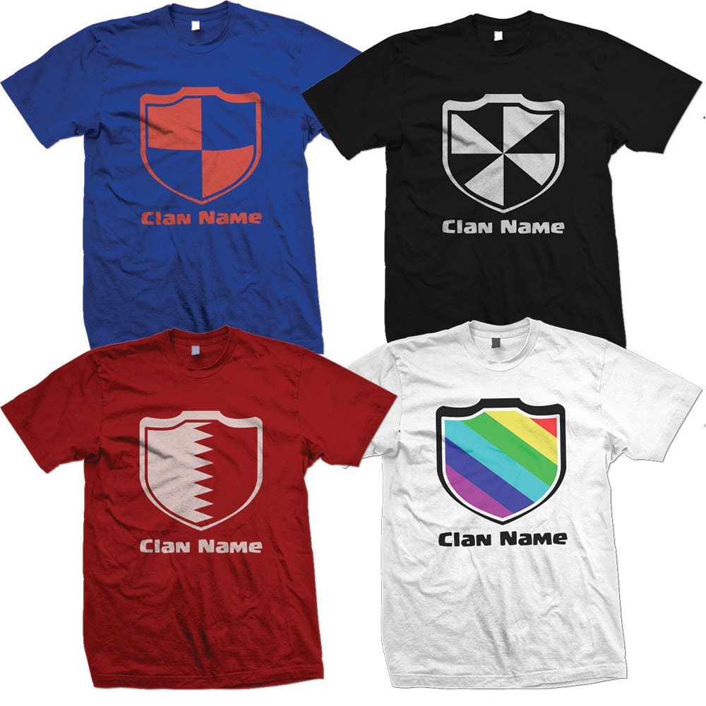 CUSTOM Clash With Your Clan T-shirts with Personalized Clash