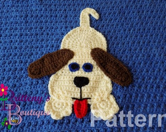 Puppy Blanket Crochet Pattern Crochet Puppy Blanket Pattern Crochet Puppy Dog Blanket Pattern Baby Boy or Girl Blanket Crochet Pattern