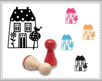 Rubber stamp HOUSE Ø 15 mm