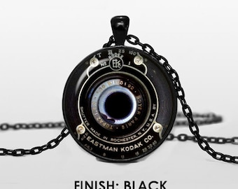 Vintage Camera Lenses Necklace with pendant Lenses Pendant Old Lenses Pendant Old Lenses Necklace Old Lenses Jewelry chain jewelley 048