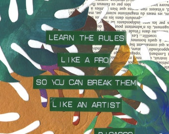 Picasso Quote print