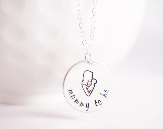 Mommy to Be  Necklace - New mom gift- Gift for expecting Mother - Mother to Be