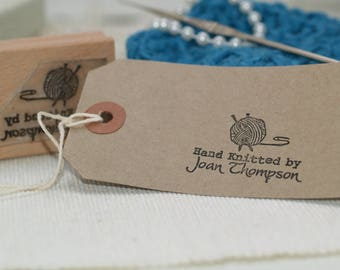 Made By Stamp, Hand Knitted By Personalised Knitting Stamp, Perfect for Crafters