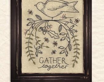 A Joyful Journey - New Stitchery pattern by Kathy Schmitz - November - Gather