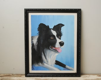 Australian Shepherd  Dog Original Painting