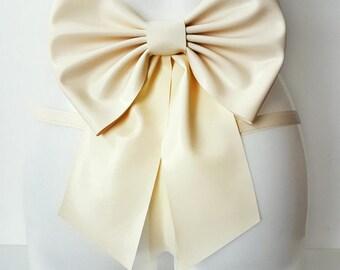 Latex big bow belt