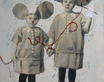 Chloé / collage original / les frangines