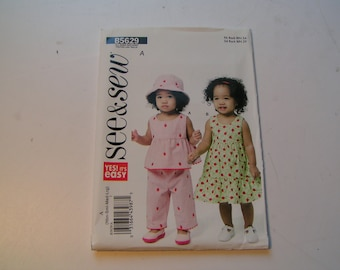 Butterick See Sew Pattern B5629 Infant Top Dress Panties Pants Hat