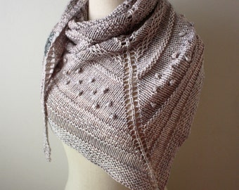Shawl Knitting Pattern / Chunky Textured Knit DK Weight Yarn / Texelle / PDF Digital Delivery