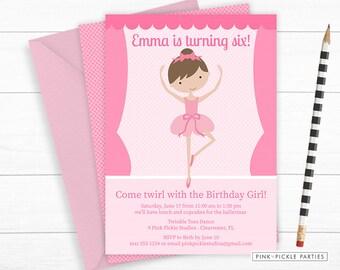 Ballerina Invitation, Ballerina Invitation Digital, Ballerina Birthday, Ballerina, Ballerina Invites, Party Invitation,Ballet Invitation | 9