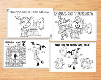 Vampirina Birthday Party favor, Vampirina coloring pages, PDF file