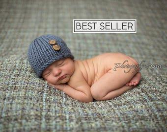 Newborn Photo Prop Boy, Newborn Hat Boy, Baby Shower Gift, Knit Baby Hat, Newborn Boy Hat Photo Prop, Knit Newborn Beanie, Knit Newborn Hat