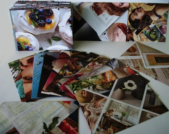 Handmade Recycled Envelopes Made From Magazines Set of 5