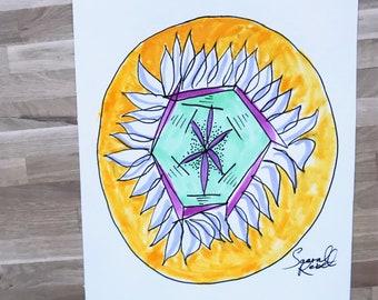 Hexagon Flower Zendala