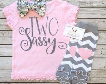 Baby Girl Clothes, TWO Sassy Second Birthday Shirt, Two Sassy Tops, Baby Girl Clothes, Sassy Shirts, Two Sassy, Second Birthday Shirt
