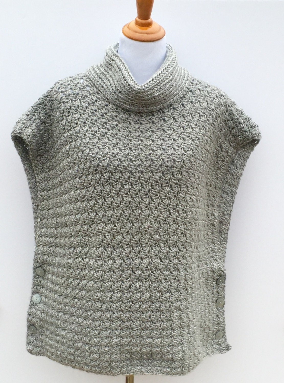 Crochet Poncho PATTERN Women girls, Cowl Neck Poncho, Fiona Poncho ...