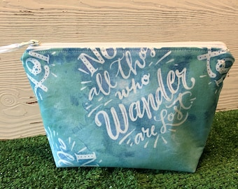 Not all who wander are lost makeup bag