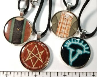 Supernatural Themed Necklaces (4 to choose from)