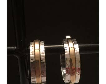 Two Tone Clip On Earrings