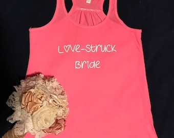 Love-Struck Bride Wedding Bella Brand Flowy Tank