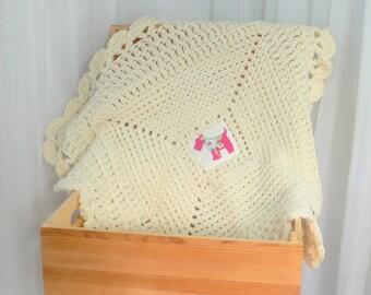 Cream Dog Blanket Lap Blanket Pet Blanket Pet Bedding Cream Cat Blanket Crochet Cat Bed Lapghan Crochet Throw Dog Mat Cat Mat Crate Bedding