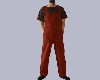 Men's  Jumpsuit - Romper -  Men's overall - dungarees - Asorted colors