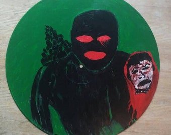 Original Abstract! Dark! Lowbrow Painting! Horror!