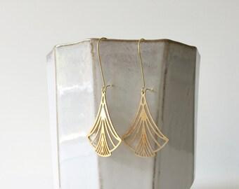 Art Nouveau Triangles Earrings | ATL-E-123