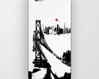 San Francisco's Oakland Bay Bridge on Phone Case -  Samsung Galaxy S7,  , iPhone 6S, iPhone 6 Plus, floral case, Bridges gifts, iPhone 8